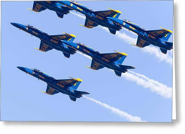 Us Navy Blue Angels F18 Supersonic Jets 5d29679 Greeting Card