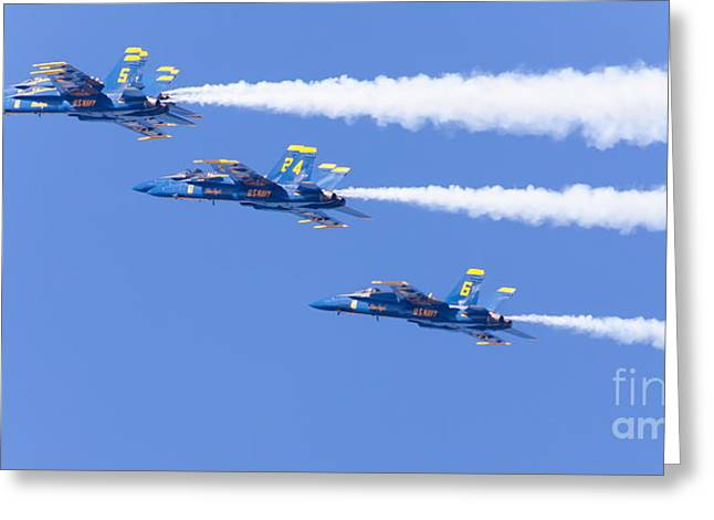 Us Navy Blue Angels F18 Supersonic Jets 5d29684 Greeting Card