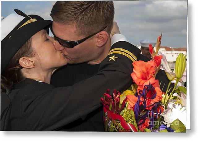 U.s. Navy Lietutenant Greets Greeting Card by Stocktrek Images