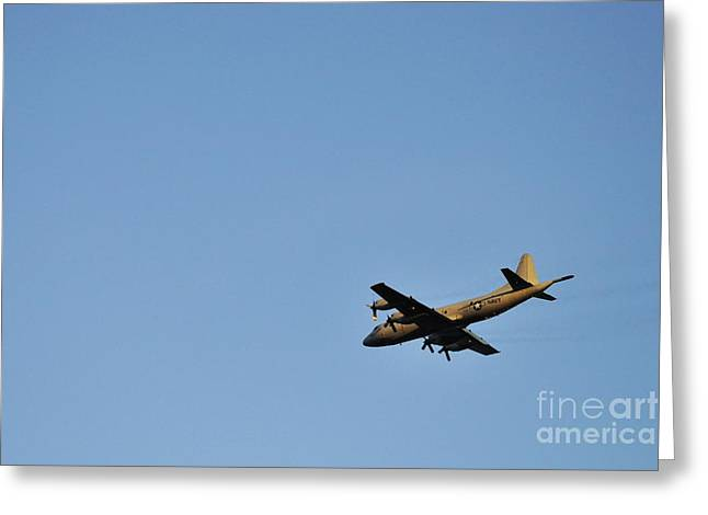 Us Navy Military Airplane Greeting Card