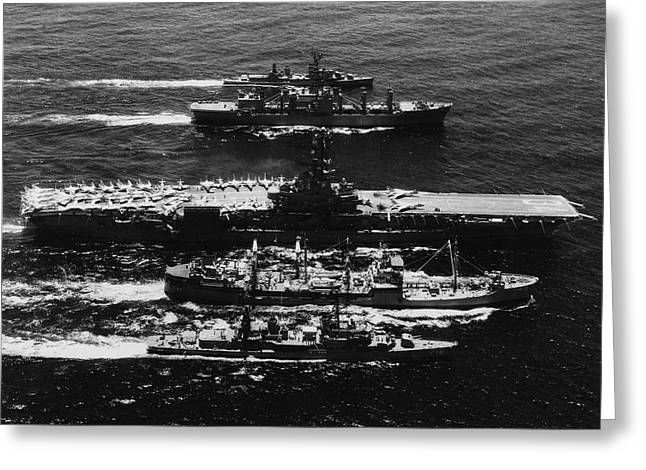 U.s. Navy Seventh Fleet Ships Greeting Card by Stocktrek Images