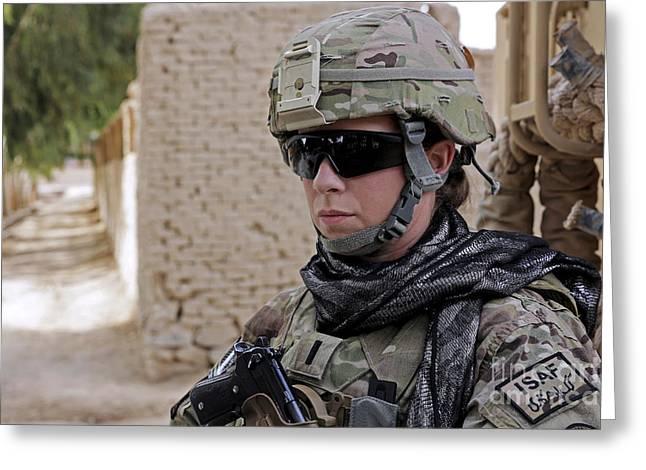 U.s. Navy Soldier At Farah City Greeting Card