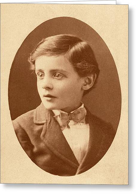 Us Pathologist Simon Flexner As A Child Greeting Card by American Philosophical Society