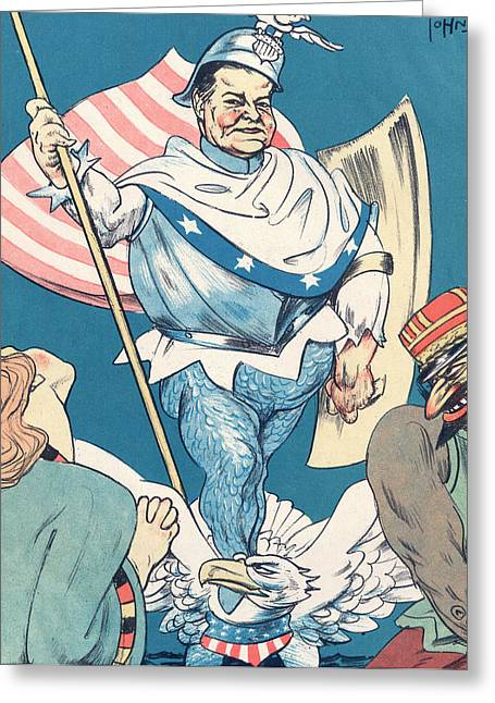 Us President Hoover, Germany's  Knight Greeting Card