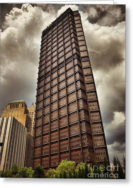 Us Steel Building Pittsburgh Hdr Greeting Card by Amy Cicconi