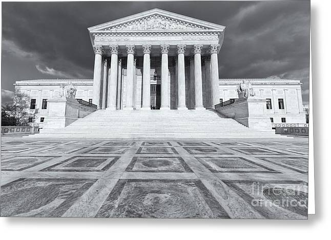 Us Supreme Court Building Ix Greeting Card by Clarence Holmes