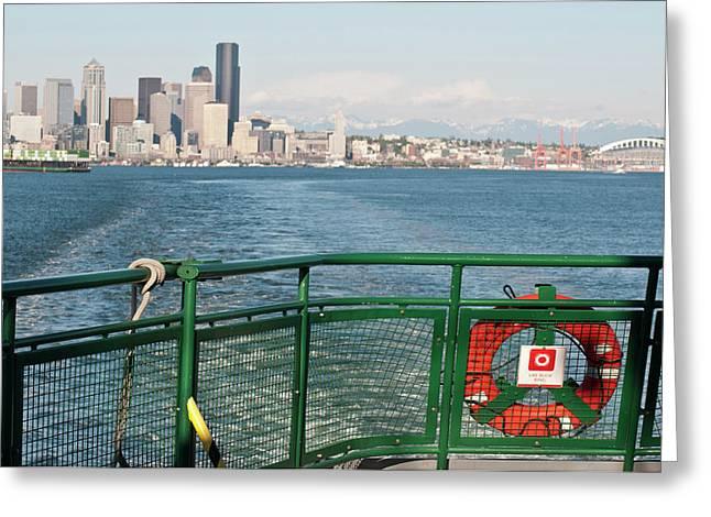 Us, Wa, Seattle, Puget Sound Greeting Card by Trish Drury