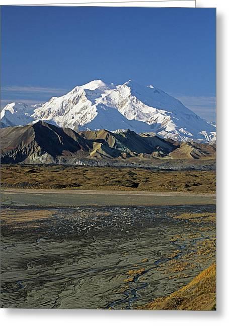 Usa, Alaska, Mount Mckinley, Mckinley Greeting Card