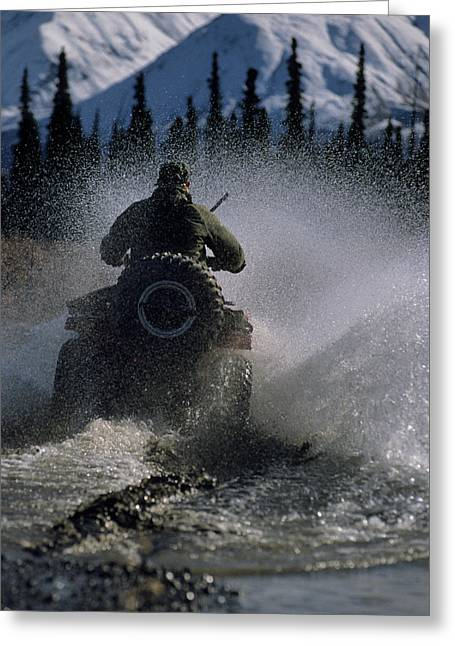 Usa, Alaska, Park Ranger, All Terrain Greeting Card