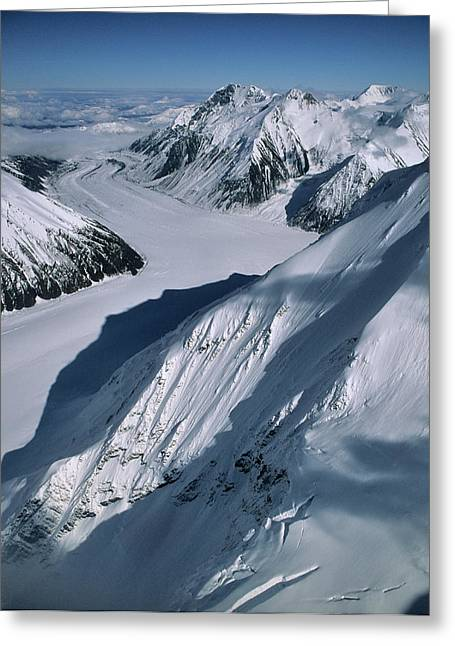 Usa, Alaska, Peters Glacier, Aerial Greeting Card by Gerry Reynolds