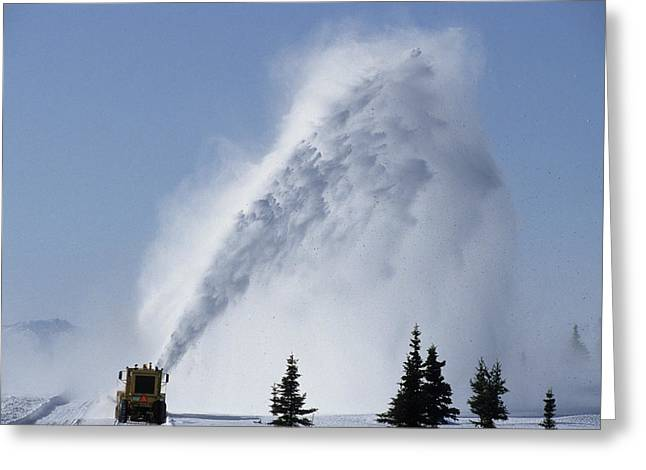 Usa, Alaska, Snow Plow, Denali Park Greeting Card