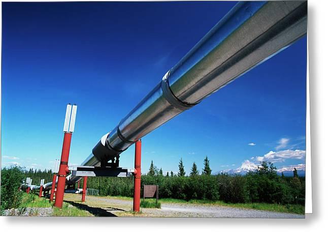 Usa, Alaska, Trans Alaska Crude Oil Greeting Card by Adam Jones