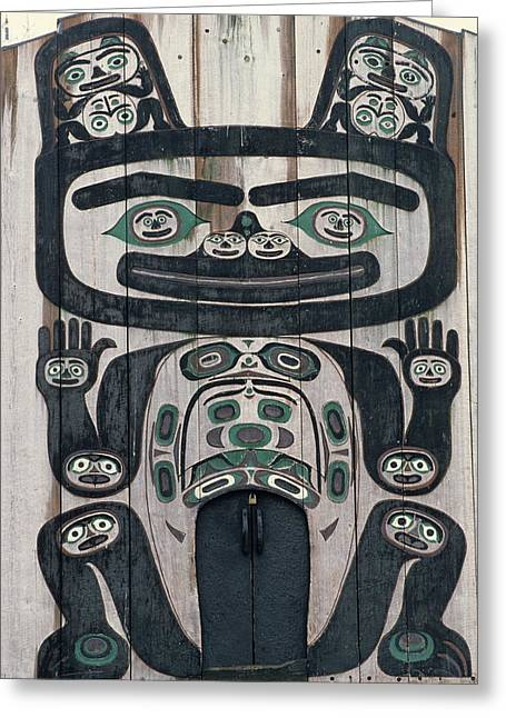 Usa, Alaska, Wrangell, Tlingit Tribal Greeting Card by Gerry Reynolds