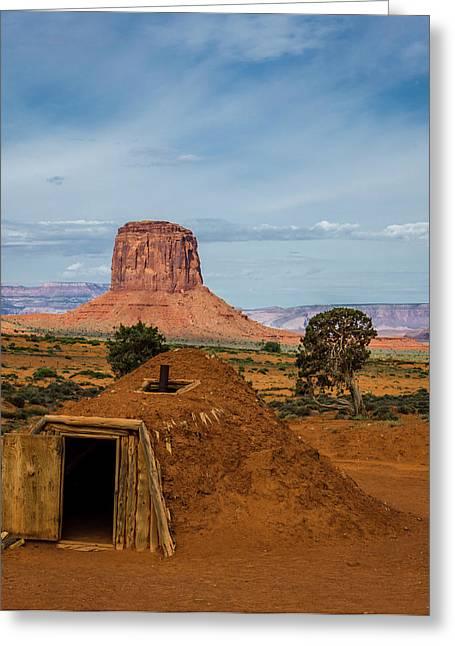 Usa, Arizona, Utah, Navajo Reservation Greeting Card by Jerry Ginsberg