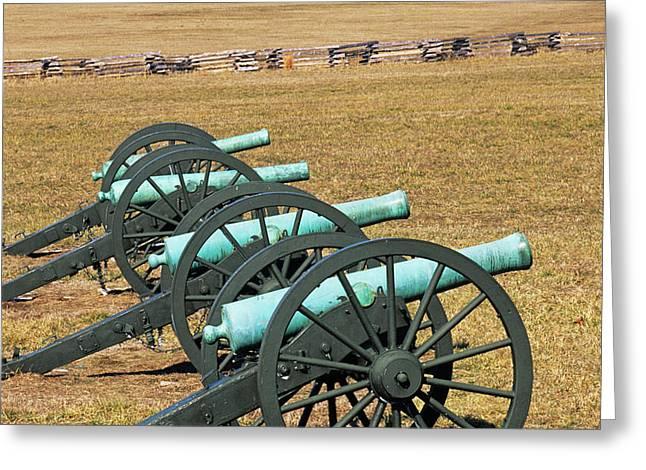 Usa, Arkansas Civil War Cannons At Pea Greeting Card by Jaynes Gallery