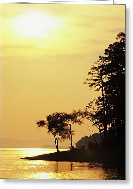 Usa, Arkansas Sunset On Lake Ouachita Greeting Card by Jaynes Gallery