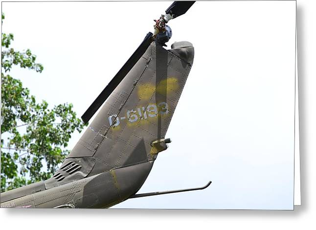 Usa Army Helicopter Tail Greeting Card by Kim Stafford