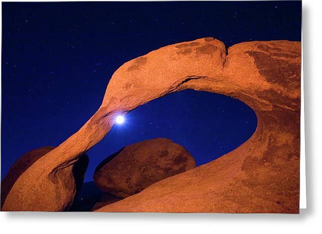 Usa, California, Alabama Hills Night Greeting Card by Jaynes Gallery