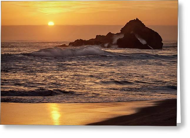 Usa, California, Big Sur Greeting Card by Ann Collins