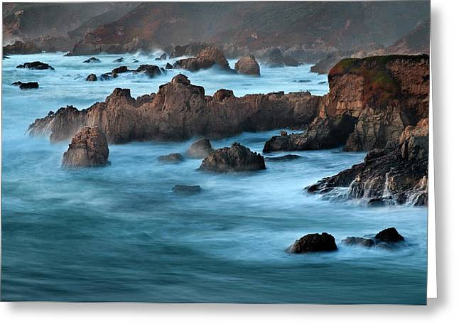 Usa, California, Big Sur, Dusk Greeting Card