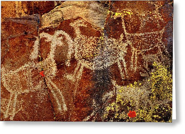 Usa, California, Little Petroglyph Greeting Card
