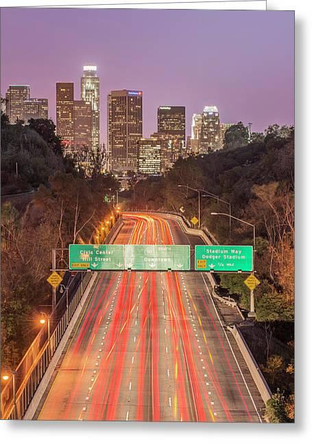 Usa, California, Los Angeles 110 Greeting Card