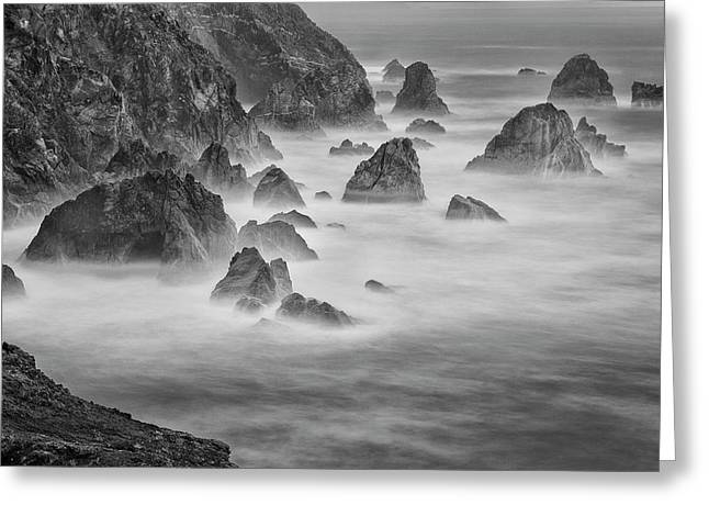 Usa, California, Mendocino Coast Greeting Card by John Ford