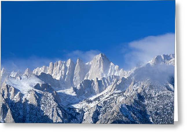 Usa, California, Mount Whitney Greeting Card by Panoramic Images