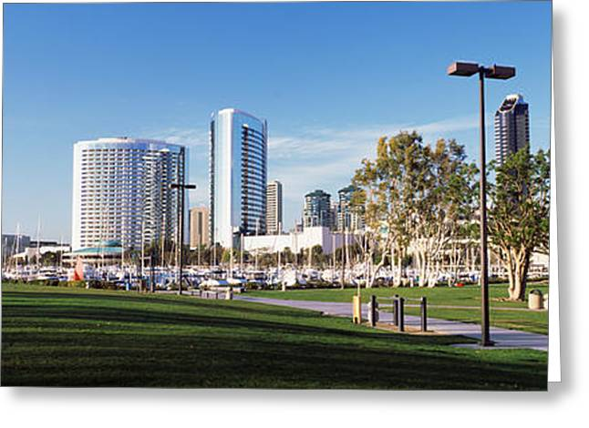 Usa, California, San Diego, Marina Park Greeting Card by Panoramic Images