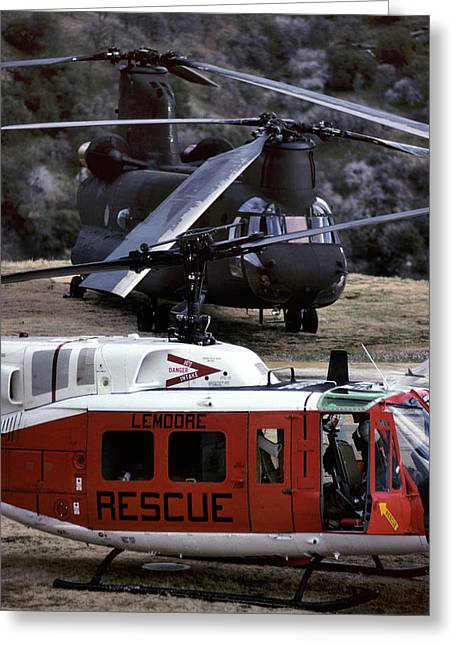 Usa, California, Search And Rescue Greeting Card