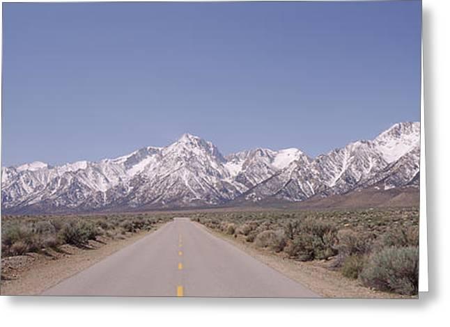 Usa, California, Sierra Nevada, Bushes Greeting Card