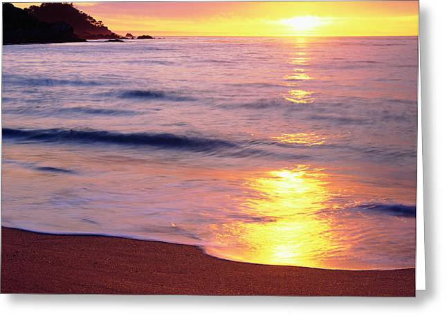 Usa, California, Sunset Greeting Card by Jaynes Gallery