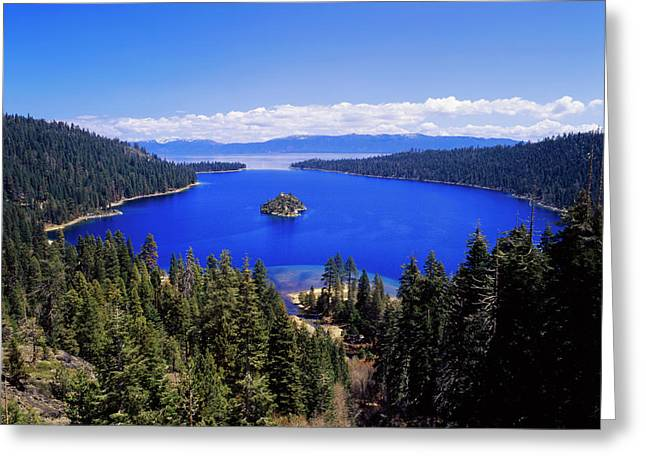Usa, California, View Of Emerald Bay Greeting Card