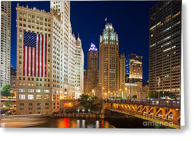 Usa - Chicago Greeting Card by Jeff Lewis