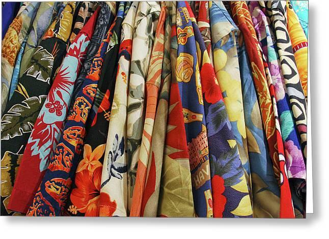 Usa, Closet Full Of Aloha Shirts Greeting Card
