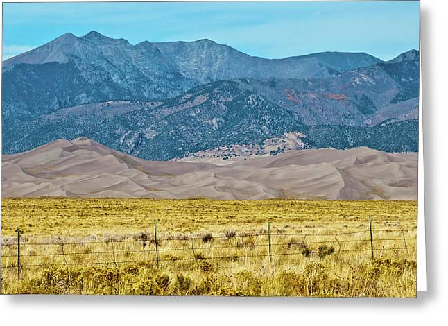 Usa, Colorado, Alamosa, Great Sand Greeting Card