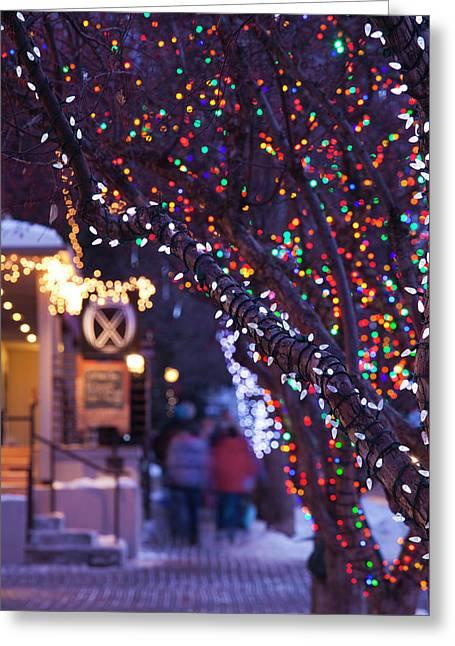 Usa, Colorado, Aspen, Christmas Tree Greeting Card