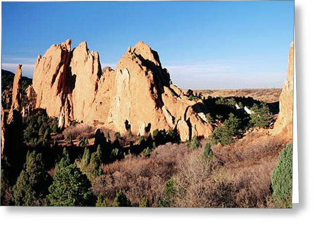 Usa, Colorado, Garden Of The Gods State Greeting Card by Walter Bibikow