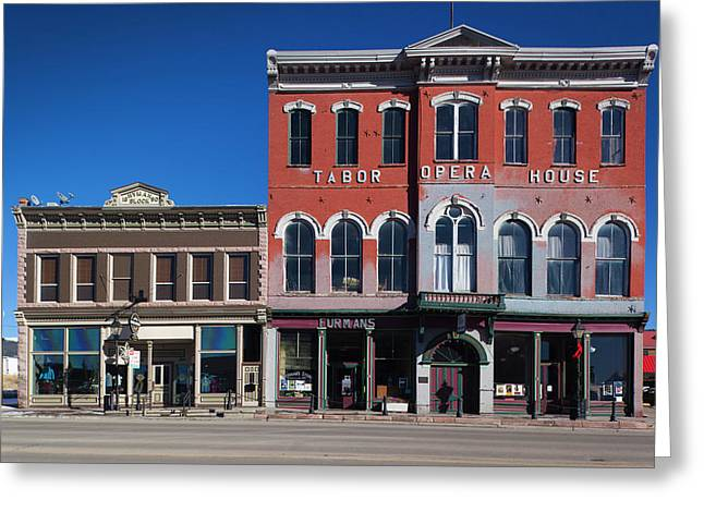 Usa, Colorado, Leadville, Historic Greeting Card by Walter Bibikow