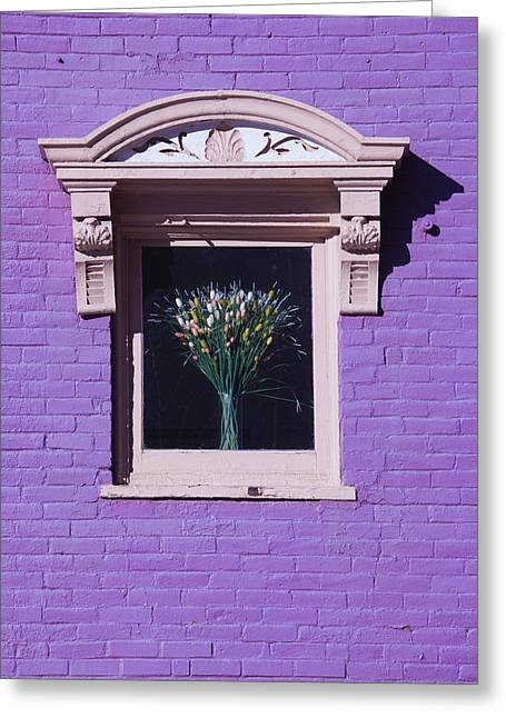 Usa, Colorado, Leadville, Purple Wall Greeting Card by Walter Bibikow
