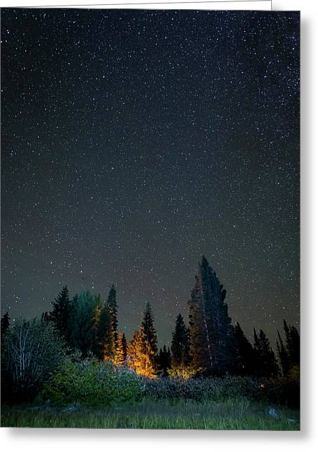 Usa, Colorado Night Sky At Lost Lake Greeting Card by Jaynes Gallery