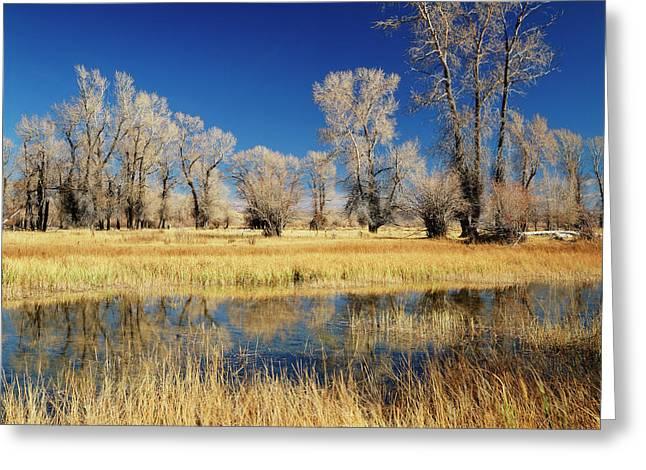 Usa, Evanston, Wyoming, View Greeting Card
