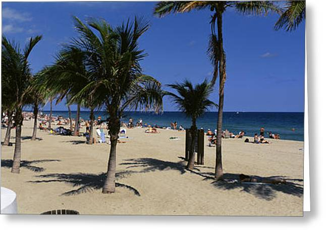 Usa, Florida, Fort Lauderdale, Beach Greeting Card by Panoramic Images