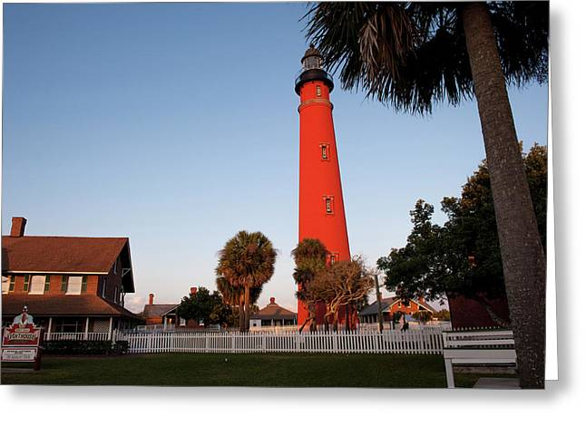 Usa, Florida, Ponce Inlet, Lighthouse Greeting Card by Lisa S. Engelbrecht