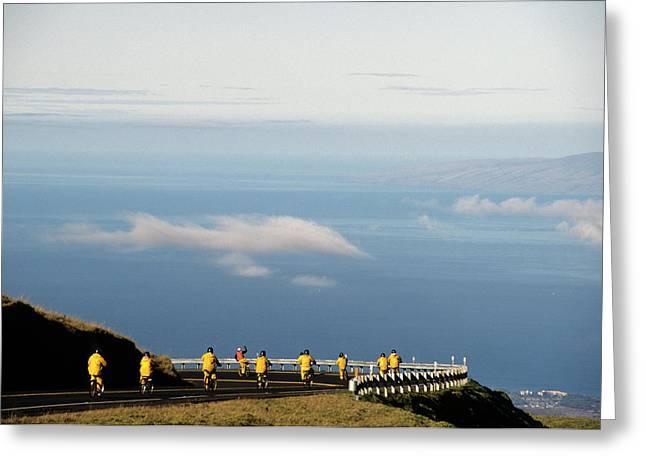 Usa, Hawaii, Downhill Bicycling Greeting Card