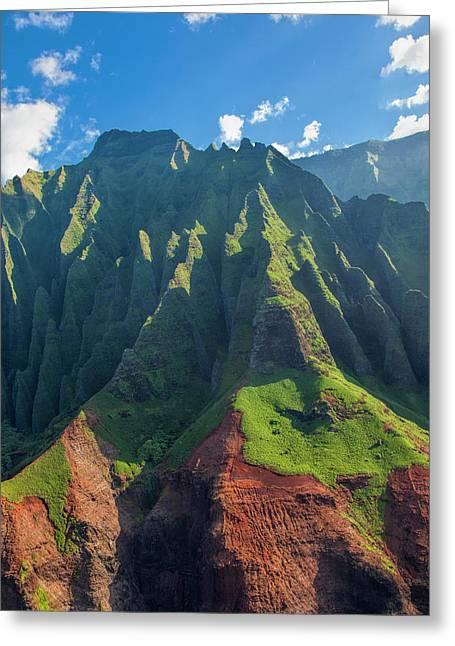 Usa, Hawaii, Kauai, Aerial Greeting Card by Terry Eggers