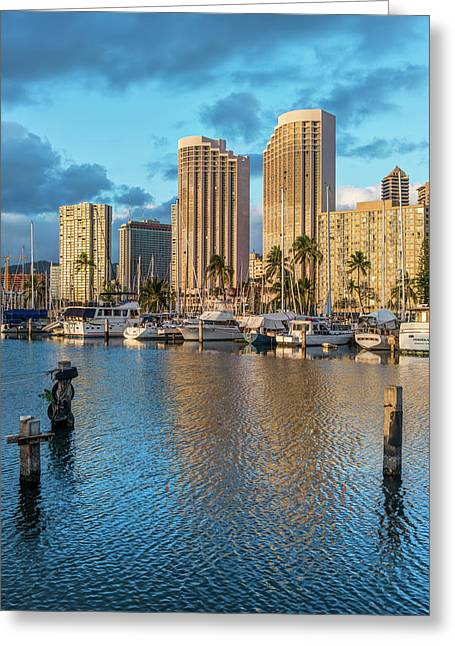 Usa, Hawaii, Oahu, Honolulu, Ala Moana Greeting Card