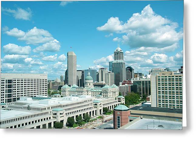 Usa, Indiana, Indianapolis Skyline Greeting Card by Lee Foster