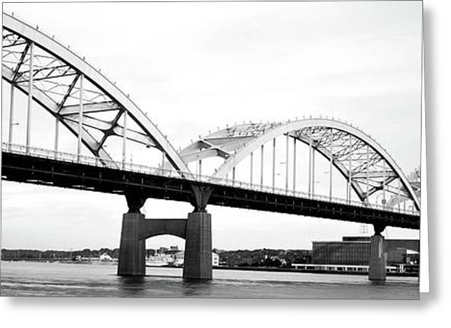 Usa, Iowa, Davenport, Centennial Bridge Greeting Card by Panoramic Images
