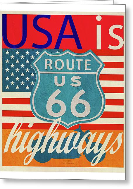 Usa Is Highways Greeting Card